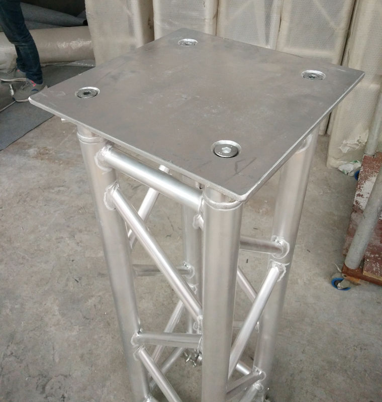 350*350*8mm Aluminum Spigot Plate Table for Beam  Lights on 1 Meter Truss