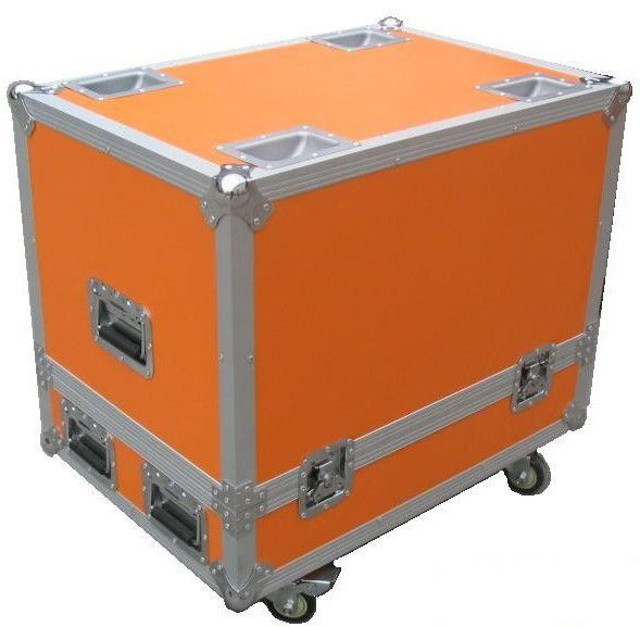 Orange 12U Flight Case Hardware Plastic Cases For DJ Mixer Case