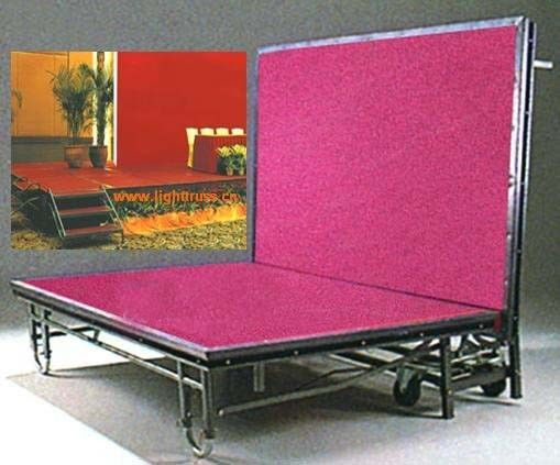 Red Exhibition Portable Stage Platforms / Waterproof Platform