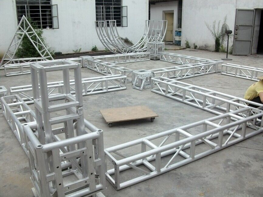 Aluminum truss , 6082-T6 Stage Lighting Truss For Exhibition Stand Build And Stage Truss