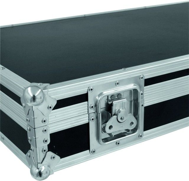 Square Portable Aluminum Tool Cases / Black Handle Equipment Case